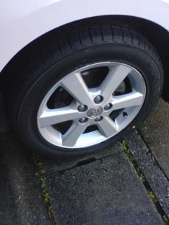 新しいタイヤと『とれる・NO.1』