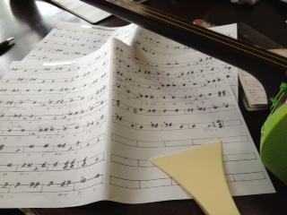 三味線合奏の楽譜完成〜*\(^o^)/*